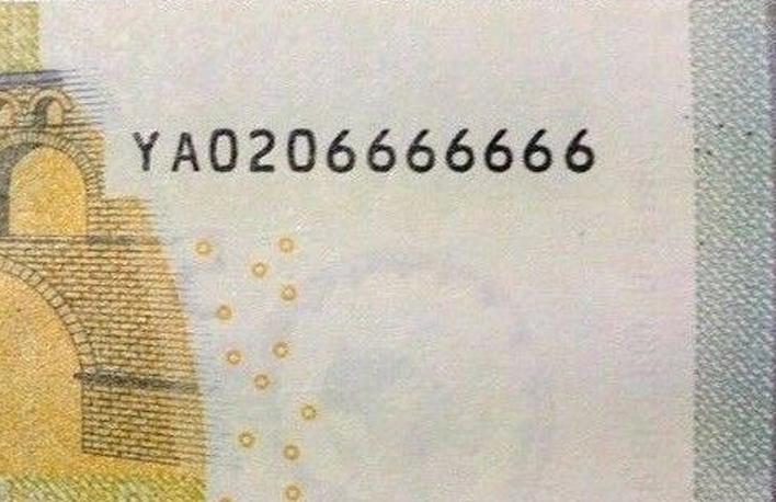 8ceca39973 LE BANCONOTE IN EURO (della serie EUROPA) RARE per combinazione di numeri.
