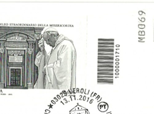 FRANCOBOLLI ITALIANI ADESIVI - come affrancarli insieme al CODICE A BARRE.