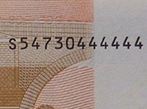LE BANCONOTE IN EURO RARE per combinazione di numeri.