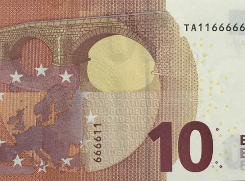 BANCONOTE IN EURO rare per combinazioni di numeri – Una nuova (provvisoria?) tendenza del mercato