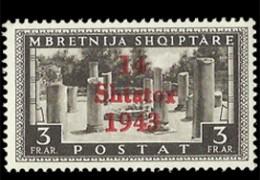 1943 - La prima serie di francobolli della OCCUPAZIONE TEDESCA d'ALBANIA.