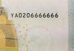 LE BANCONOTE IN EURO (della serie EUROPA) RARE per combinazione di numeri.