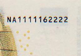 BANCONOTE EURO serie EUROPA - Quelle rare per combinazione di numeri.