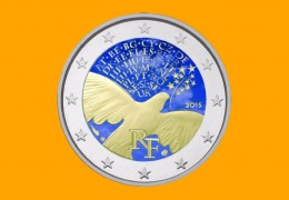 "I 2 EURO COMMEMORATIVI ""COLORATI"" da privati"