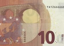 Altra banconota dell'Irlanda con ripetuta consecutivamente la cifra 6 per sette volte.