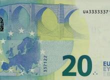 """Biglietto serie """"Europa"""" della Banca di Francia con sei cifre eguali all'inizio."""