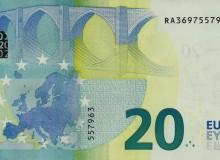 Banconota da 20 € della Germania (Berlino)  serie Europa con palindromo composto dal massimo delle cinque cifre diverse.