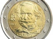 ITALIA 2013 - Giuseppe Verdi. Il 2 € commemorativo originale ,,,