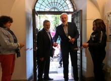 L'assessore alla cultura dr. Fantini inaugura la Mostra.