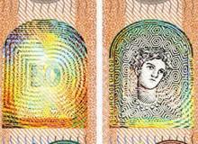 """Nuova banconota da 50 euro. Europa alla """"finestra dai colori cangianti""""."""
