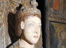 Madonna di Costantinopoli - Particolare del volto di Gesù bambino.