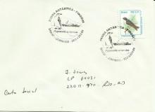 Un francobollo di modesto valore con un annullo per appassionati di Antartide.