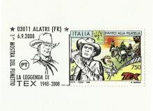 L'annullo apposto sul francobollo di TEX