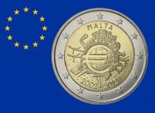 2012 - 10° anniversario dell'EURO - Terza emissione comune per 18 Nazioni.