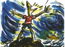 Quando Pinocchio decide di tornare il babbo a cercarlo è andato per mare.