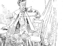 Respinto dall'amata, Vieux-Bois compie maldestri tentativi di suicidio.
