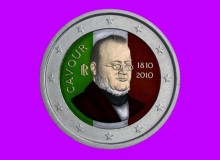 ITALIA 2010 - Camillo Benso conte di Cavour, una seconda versione colorata.