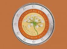 SLOVENIA 2010 - Orto botanico di Lubiana. 2 € commemorativo colorato.