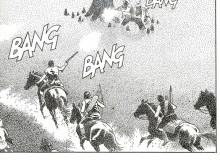 """TEX - Albo speciale n. 27 """"La cavalcata del morto"""".  Particolare dell'ultima vignetta di pagina 179, tratta dalla tavola originale del maestro Civitelli."""