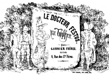"""""""Le Docteur Festus"""" - Frontespizio edizione Garnier Frères, Paris 1860."""
