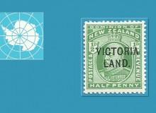 """Il raro valore da ½d con la sovrastampa """"VICTORIA LAND."""" e..."""