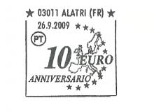 L'annullo speciale delle Poste Italiane.