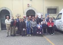 Il centro diurno Emanuele Fanella visita la mostra.