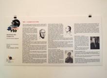 Il pannello con notizie sui creatori di Tex - TEX © Sergio Bonelli Editore