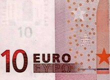 GRECIA - Banconota prima serie da 10 € a firma Draghi, tiratura N037.