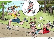 c) Gürcan Gürsel –  Vignetta comica tratta da tavola originale in Mostra. ©   De Boemerang Bv  e Gürcan Gürsel