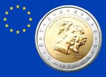 Il 2 euro commemorativo del 2005, comune con i simboli della zecca finlandese.