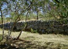 PELONGA di ALATRI - Lungo muro con base poligonale.