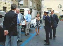 L'arrivo di S.E. l'Ambasciatore di Polonia Dr. Piotr NOWINA-KONOPKA e Signora.