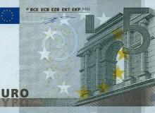PORTOGALLO - Banconota prima serie da 5 € firma Duisenberg, tiratura U002.