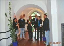 Il Sindaco di Alatri Ing. Giuseppe Morini inaugura la Mostra.
