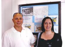 Gli autori del cartoncino: Peter Zagar e Michela Marocco.