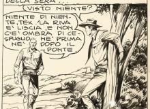 """GALEP - """"Tex e Kit Carson"""", vignetta tratta da tavola originale in Mostra. ©  Sergio Bonelli Editore"""