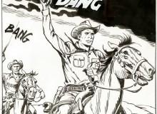 Erio Nicolò - Tex e Carson in azione. Vignetta tratta da tavola originale in Mostra. © Sergio Bonelli Editore