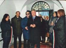 Il Sindaco di Alatri Dr. Costantino Magliocca inaugura la Mostra.