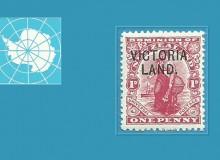 """Il francobollo da 1d con la sovrastampa """"VICTORIA LAND.""""    e..."""