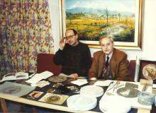 """1995 - Zanelli ad """"Ernica TV"""" presenta in anteprima i preparativi per la nuova medaglia."""