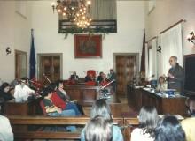 1996 - FERENTINO - Presentazione della medaglia nella sala consiliare del Comune.